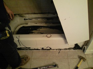 removing tub liner