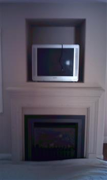 tv alcove before