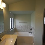 soaker tub mosaic tile