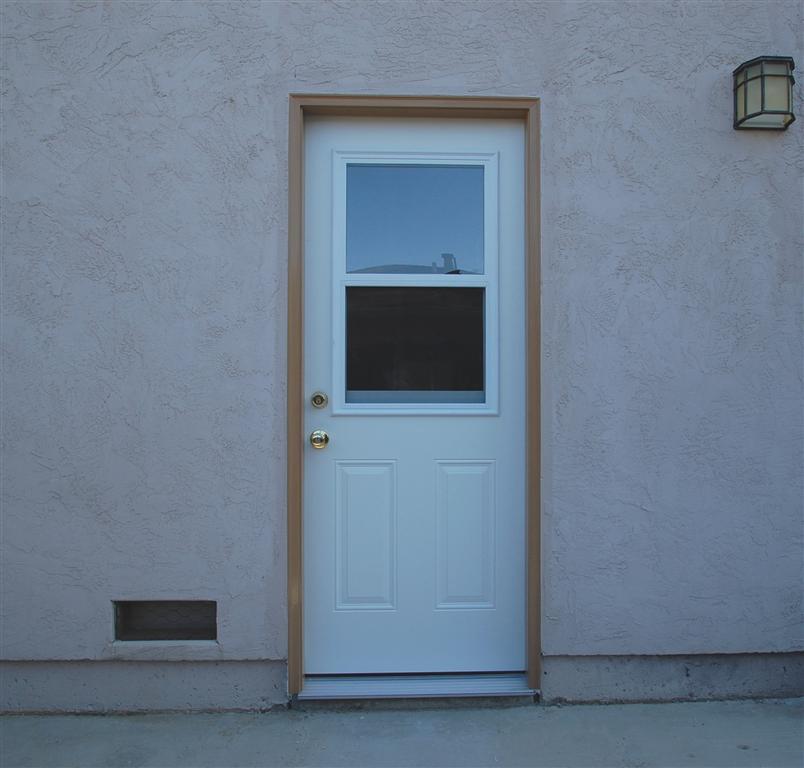 Convert Kitchen Cabinet Doors Glass Inserts: Garage Side Entry
