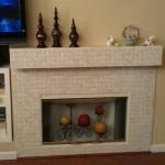 mosaic marble fireplace surround