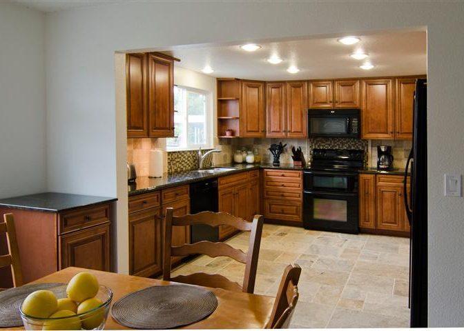 vacaville kitchen open wall