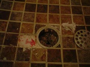 Loose tile in shower