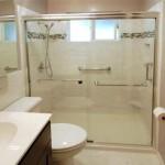 Custom tile shower stall